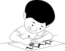 Black and white clipart 2 year old picture library download Black And White Little Boy - 500*275 - Free Clipart Download ... picture library download
