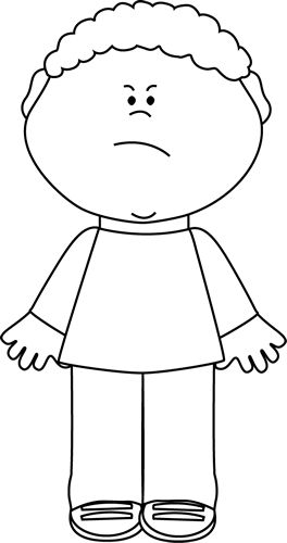 Kids clip art images. Free clipart black and white for boys