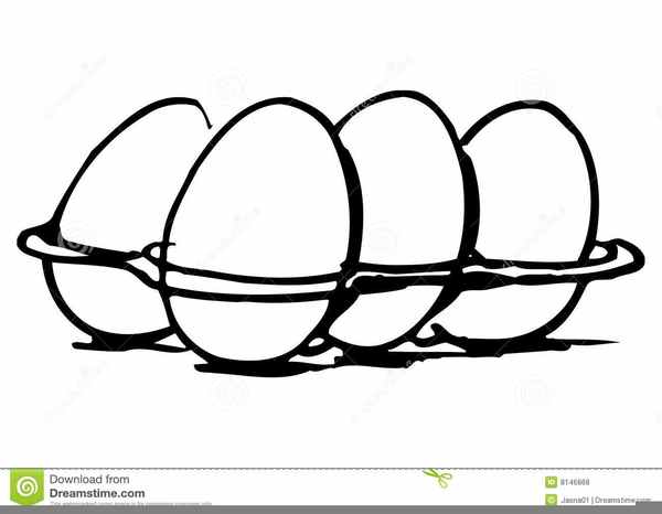 Eggs black and white clipart