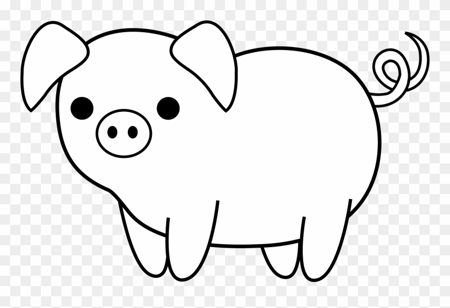 Black and white clipart a graphic freeuse Cute Black And White Clip Art Pinterest - Pig Clipart Black And ... graphic freeuse