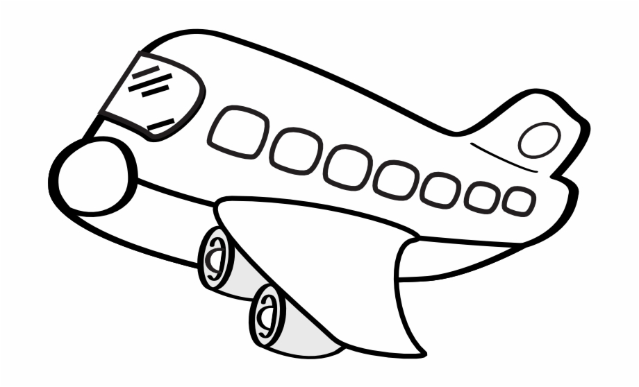 Black and white clipart aereo picture free library Net » Clip Art » Aereo Civile Funny Airplane Squiggly - Black And ... picture free library