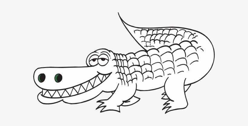 Black and white clipart alligator graphic royalty free download Svg Freeuse Alligator Outline Clip Art At Clker Com - Black And ... graphic royalty free download