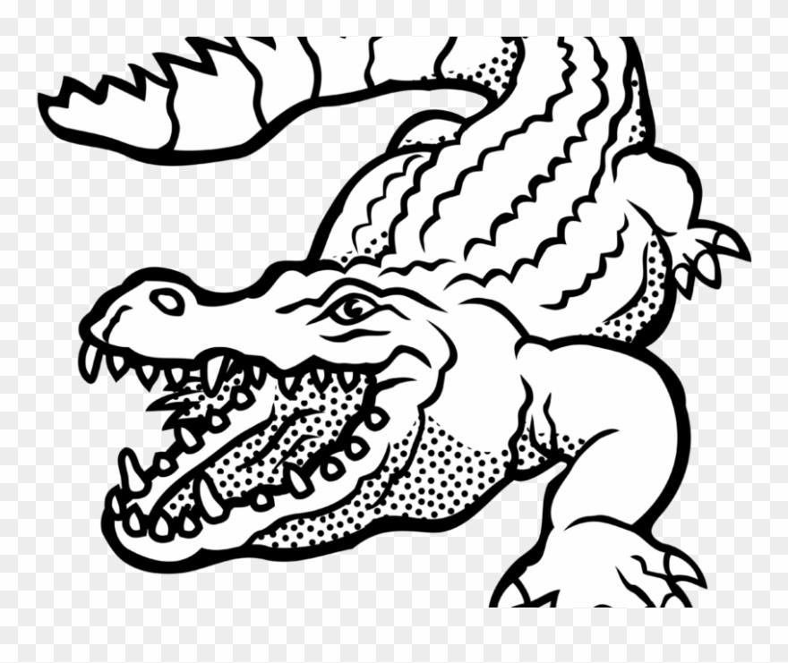 Black and white clipart alligator banner transparent stock Alligator Clipart Images Black And White Free Download - Crocodile ... banner transparent stock