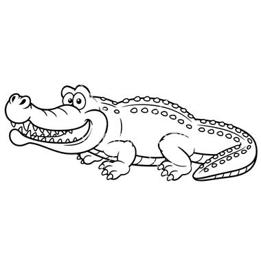 Black and white clipart alligator jpg royalty free download alligator Crocodile outline clipart jpg - ClipartPost jpg royalty free download
