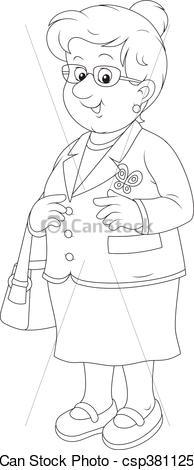Black and white clipart an old bag png black and white stock Old lady clipart black and white 7 » Clipart Portal png black and white stock