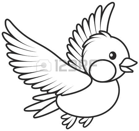 Black and white clipart an small bird clipart black and white library Small Bird Clipart Black And White clipart black and white library