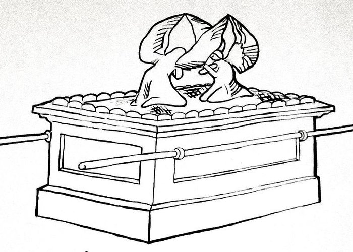 Black and white clipart ark of the covenant jpg black and white library Ark Of The Covenant Sketch at PaintingValley.com | Explore ... jpg black and white library