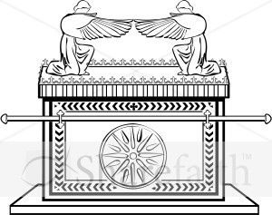 Black and white clipart ark of the covenant