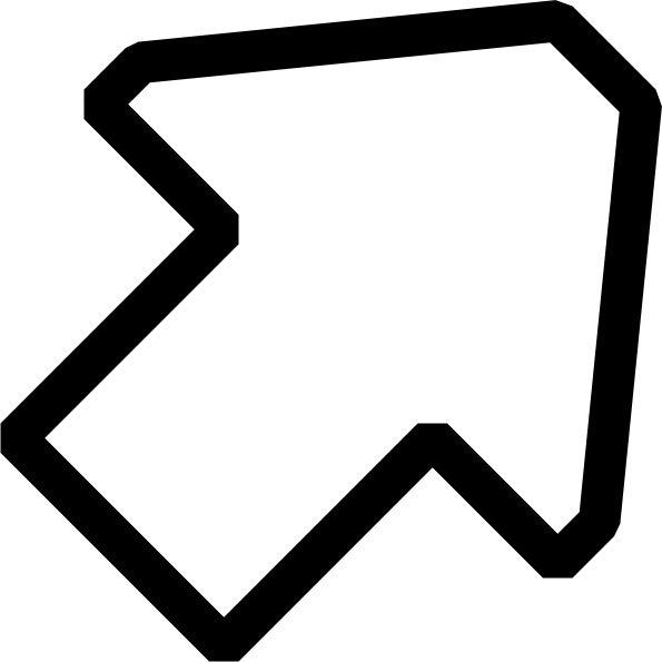 Black and white clipart arrow
