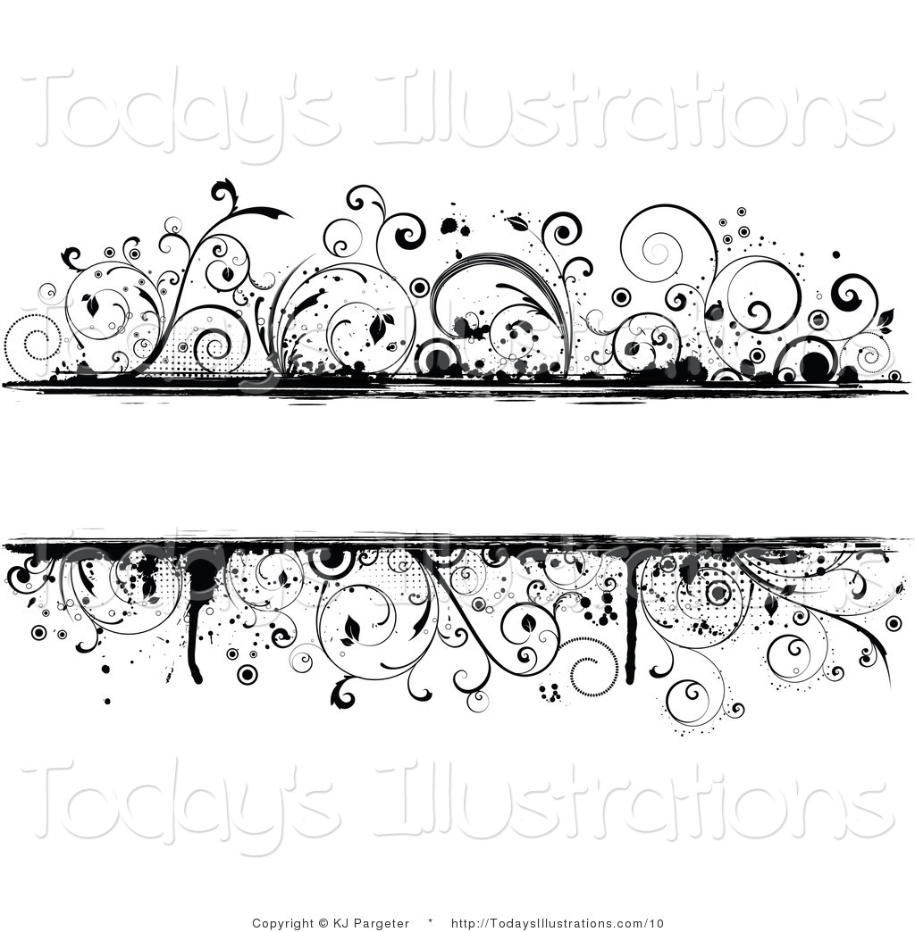 Vector clipart black and white clip transparent Vector Clipart of a Grungy Black and White Background of Vines with ... clip transparent