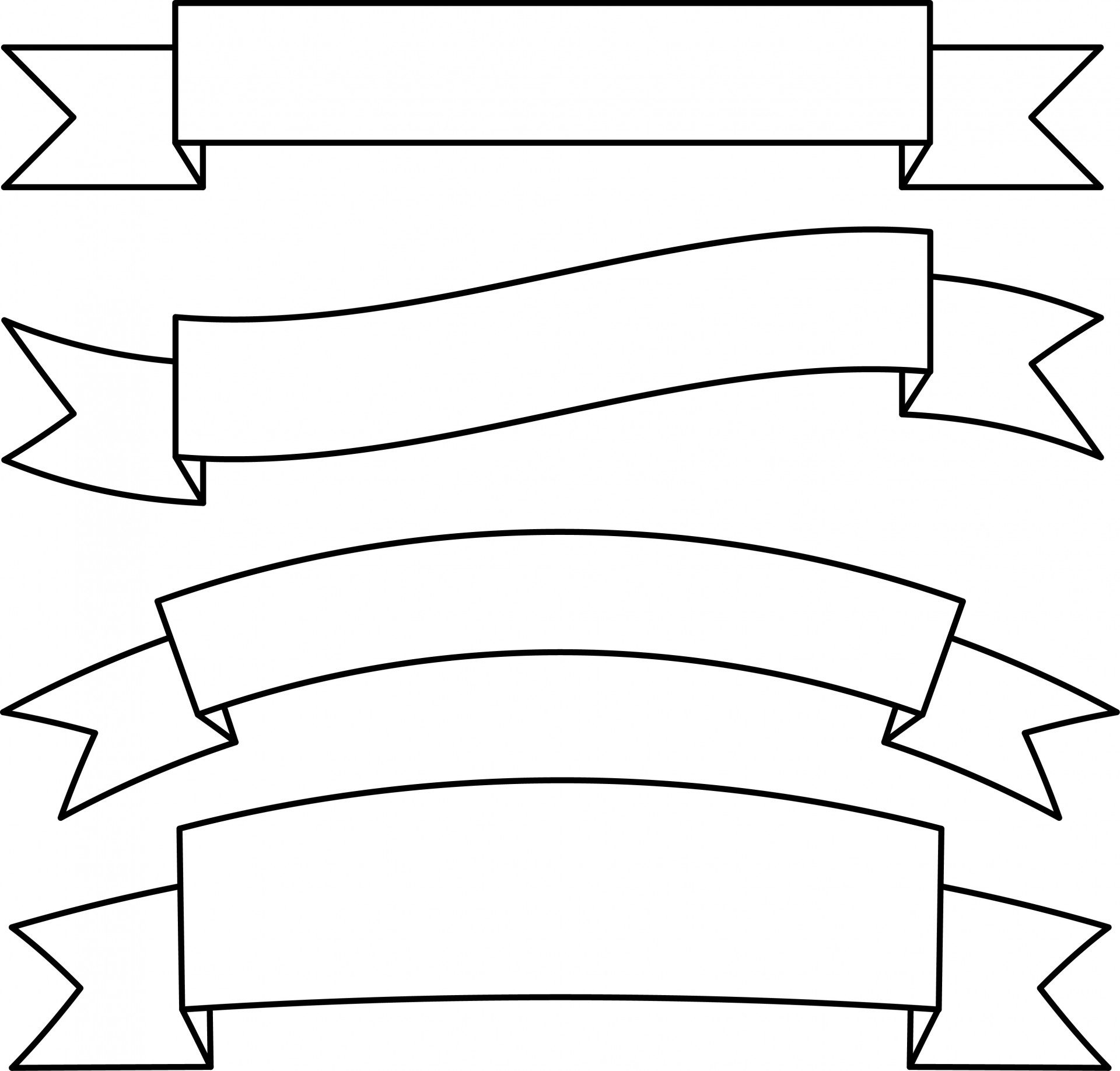 Ribbon banner clipart black and white clip library download Black and white banner clipart 8 » Clipart Station clip library download