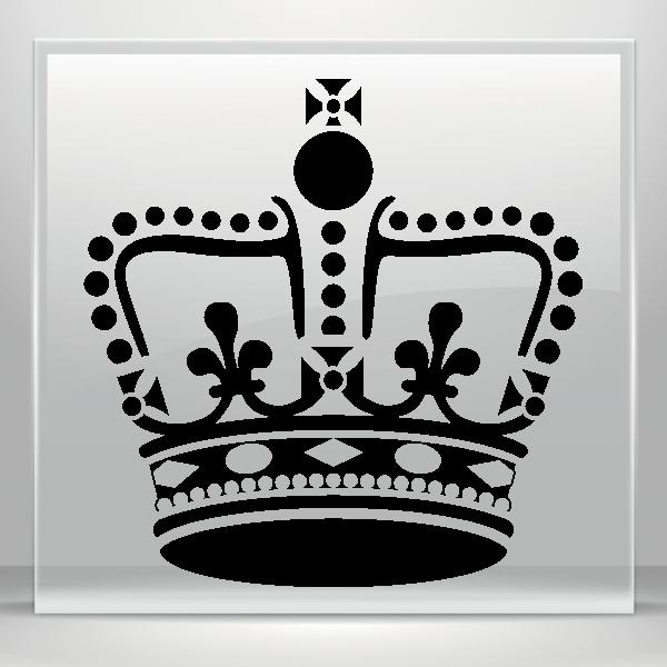 Fleur de lis crown vinyl clipart clip art black and white Simple color vinyl Ornamented King Queen Crown | Stickers Factory clip art black and white