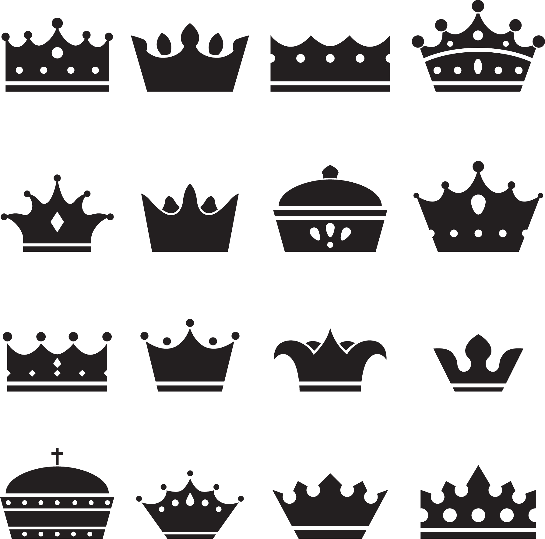 Crown silhouette clipart vector freeuse Crown of Queen Elizabeth The Queen Mother Silhouette Illustration ... vector freeuse