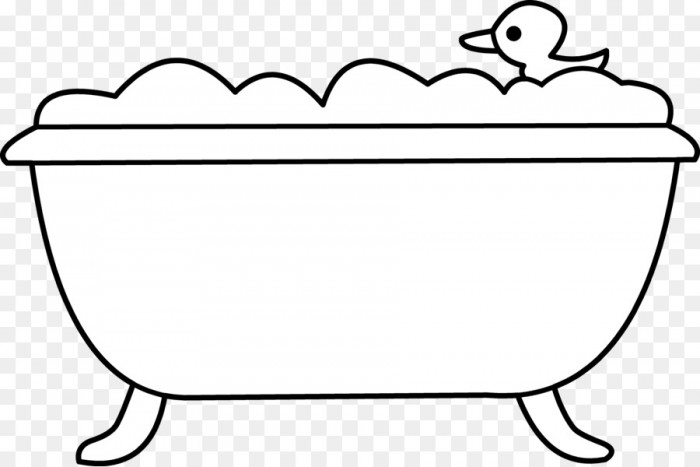Black and white clipart bath svg royalty free Bathtub Bathroom Bubble Bath Clip Art Tub Cliparts Png Download ... svg royalty free