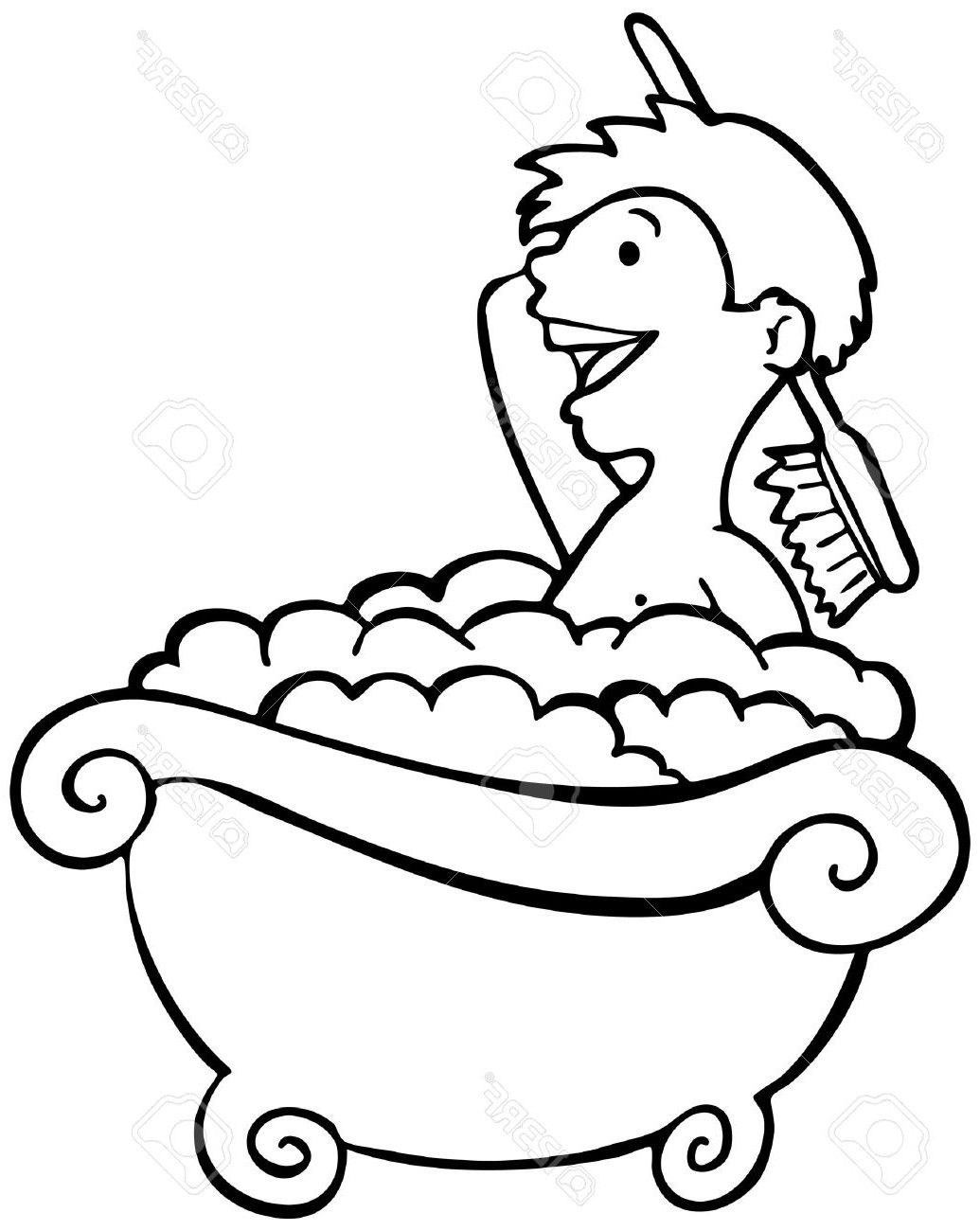 Black and white clipart bath image black and white download Bath clipart black and white 6 » Clipart Portal image black and white download