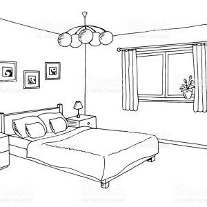 Putting son to bed clipart black and white