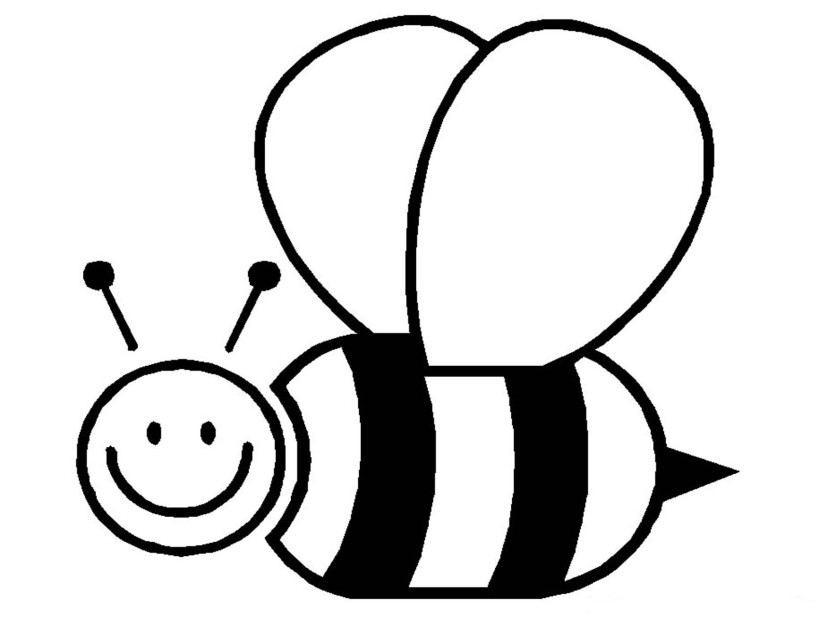 Cartoon honey bee clipart black and white jpg freeuse stock Honey Bee Clipart Black And White | Free download best Honey Bee ... jpg freeuse stock