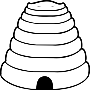 Black and white clipart beehive png library download Plain Beehive Clip Art at Clker.com - vector clip art online ... png library download