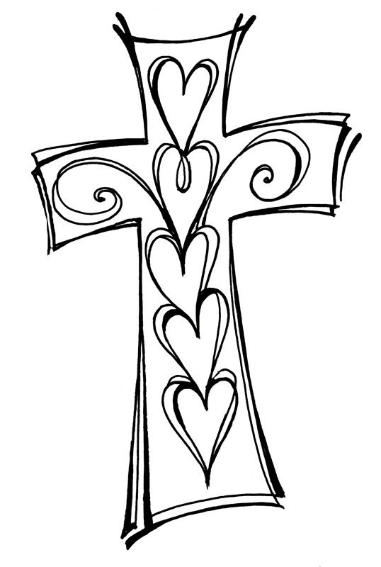 Black and white clipart bible verses image 538x800 Cross And Swirls Black and White Christian Clipart | Prep ... image