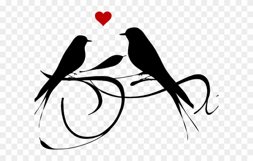 Love birds clipart clipart free library Love Birds Clipart Black And White - Png Download (#864230) - PinClipart clipart free library