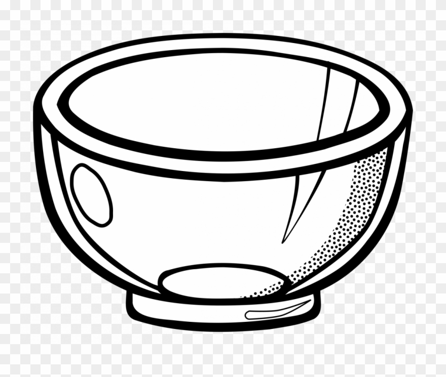 Bowl clipart black and white vector free download Large Size Of Girl Drawing Clipart Black And White - Bowl Clipart ... vector free download