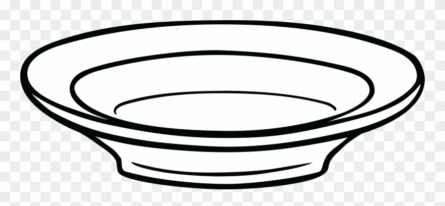 Bowl clipart black and white png transparent stock Free Clipart Of A Shallow Bowl - Dish Clipart Black And White Png ... png transparent stock