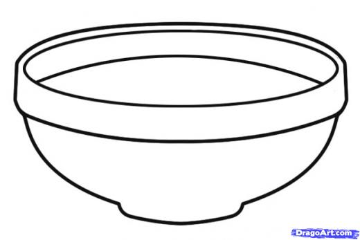 Bowl clipart black and white image black and white Bowl clipart black and white 6 » Clipart Station image black and white
