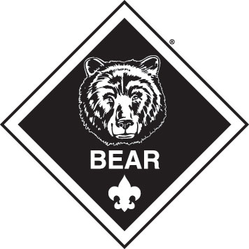 Black and white clipart boyscouts logo image Bear clipart boy scouts - ClipartFest image