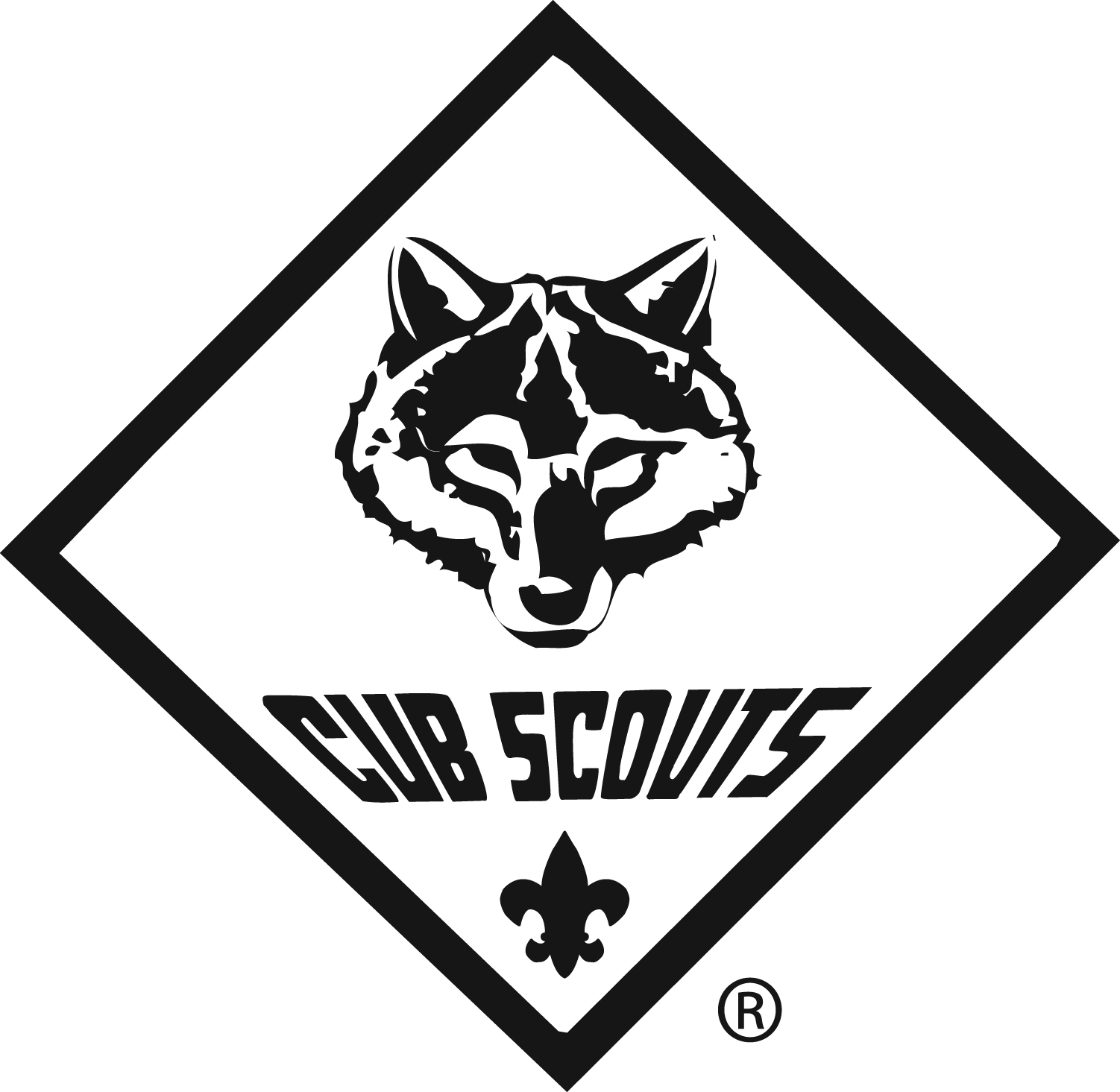 Black and white clipart boyscouts logo clip library Cub Scouts Clip Art & Cub Scouts Clip Art Clip Art Images ... clip library