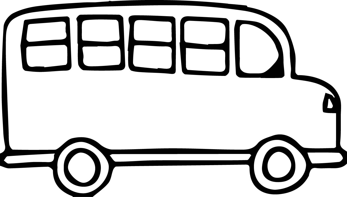 Clipart of a bus black and white library Bus Black And White Clipart | Free download best Bus Black And White ... library