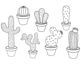 Black and white clipart cactus picture transparent download Clipart resolution 340*270 - cactus black and white clipart Cactus ... picture transparent download