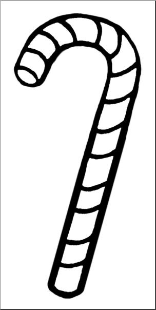 Black and white clipart candy cane image transparent Clip Art: Candy Cane B&W I abcteach.com | abcteach image transparent