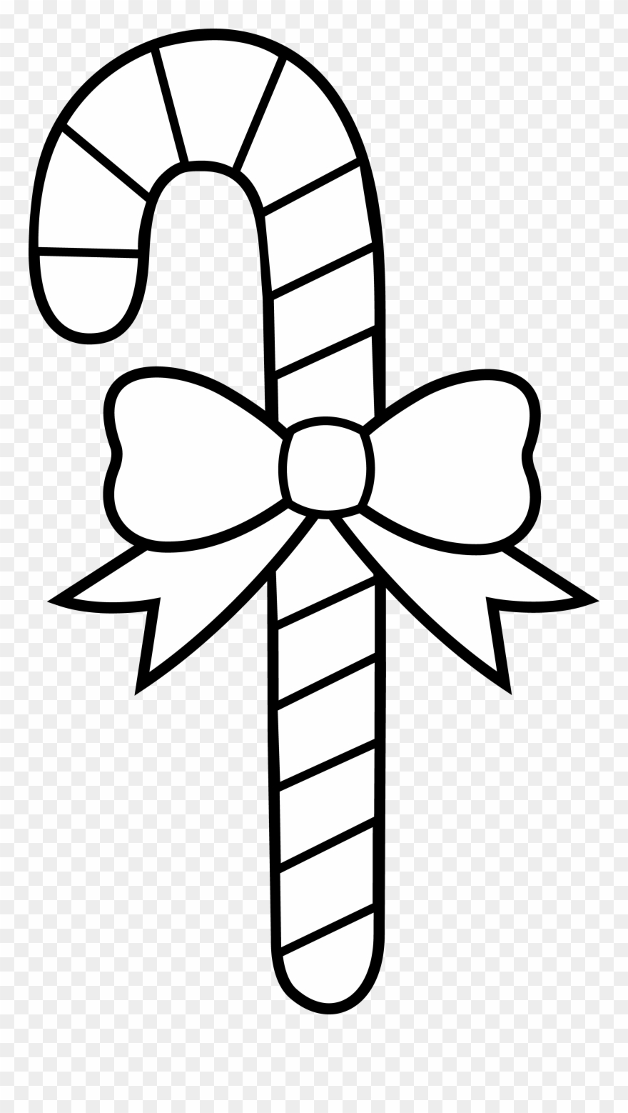 Candy cane black and white clipart picture download Candy Cane Coloring Pages Christmas Candy Cane Coloring - Candy Cane ... picture download