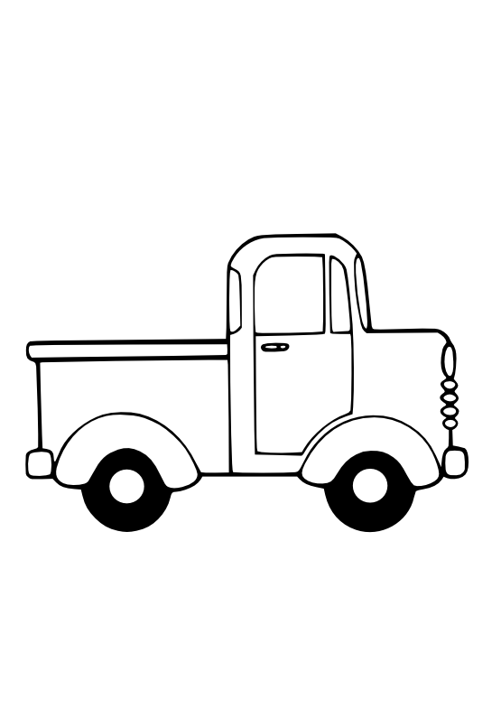 Vintage truck with christmas tree clipart picture freeuse Truck Clip Art Black And White | Art | Pinterest | Clip art, Quilt ... picture freeuse