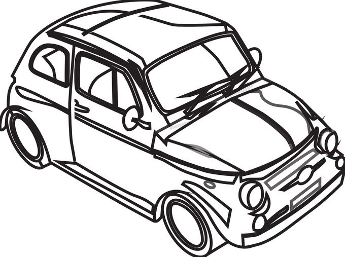 Black and white clipart of car vector transparent library Car Images Clip Art Black And White | Siewalls.co vector transparent library