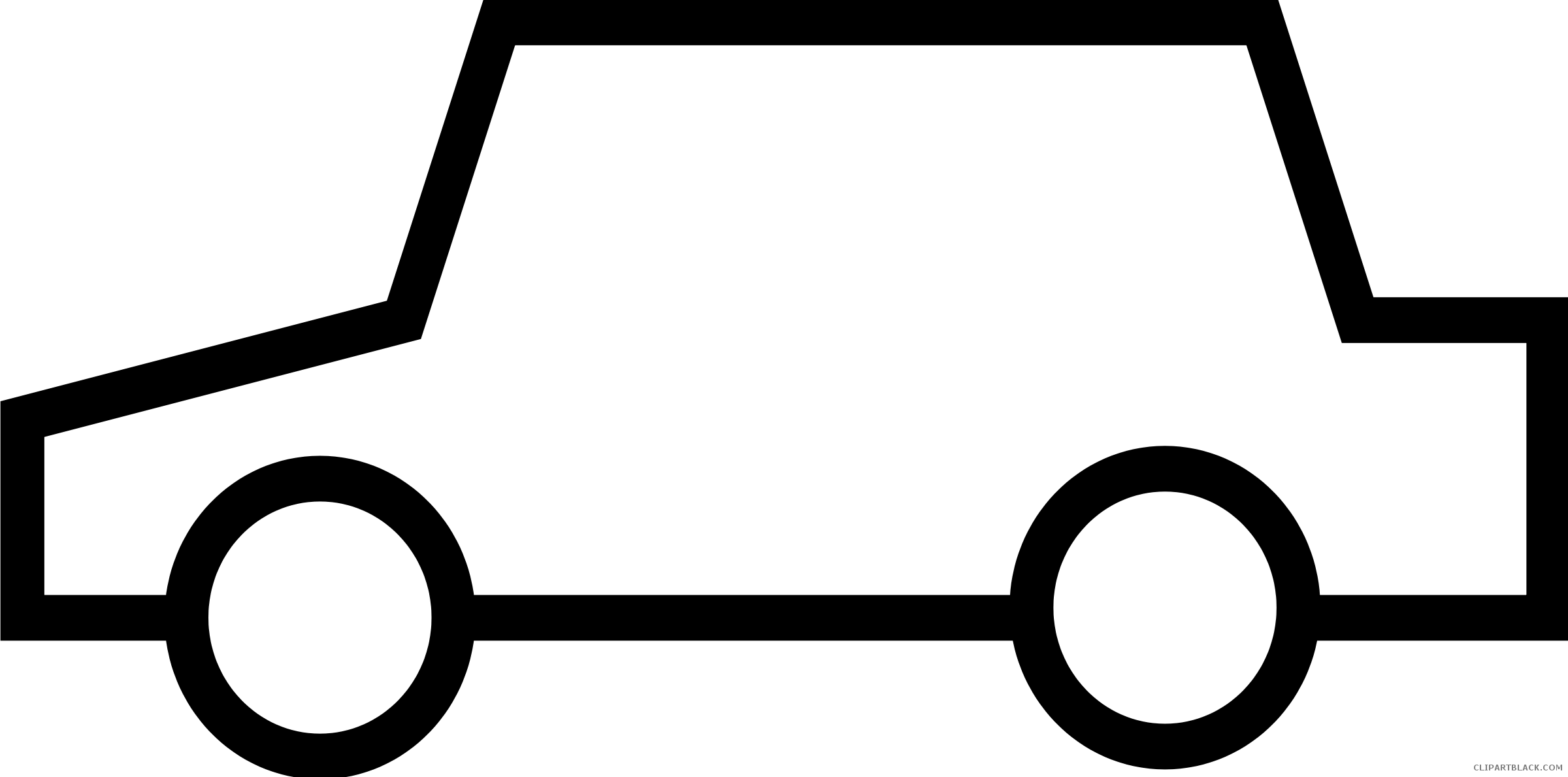 Car on road clipart black and white clipart free download Car Outline Clipart - ClipartBlack.com clipart free download
