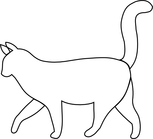 Walking cat clipart banner freeuse download Cat Silhouette Outline at GetDrawings.com | Free for personal use ... banner freeuse download