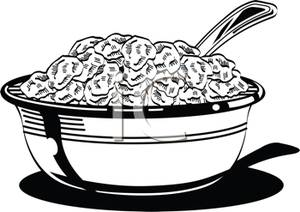 Black and white clipart cereal graphic library Black and White Bowl of Cereal - Royalty Free Clipart Picture graphic library
