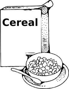 Black and white clipart cereal graphic royalty free download Cereal black and white clipart » Clipart Portal graphic royalty free download