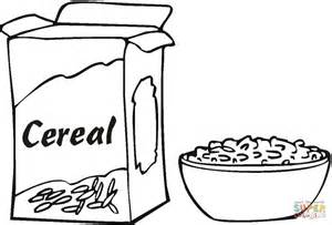 Black and white clipart cereal svg freeuse Clip Art Vector Of Black And White Cartoon Bowl Of Cereal - Free Clipart svg freeuse