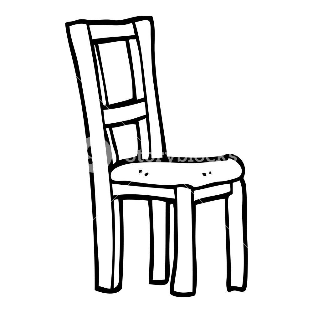 Black and white clipart chair black and white black and white cartoon wooden chair Royalty-Free Stock Image ... black and white