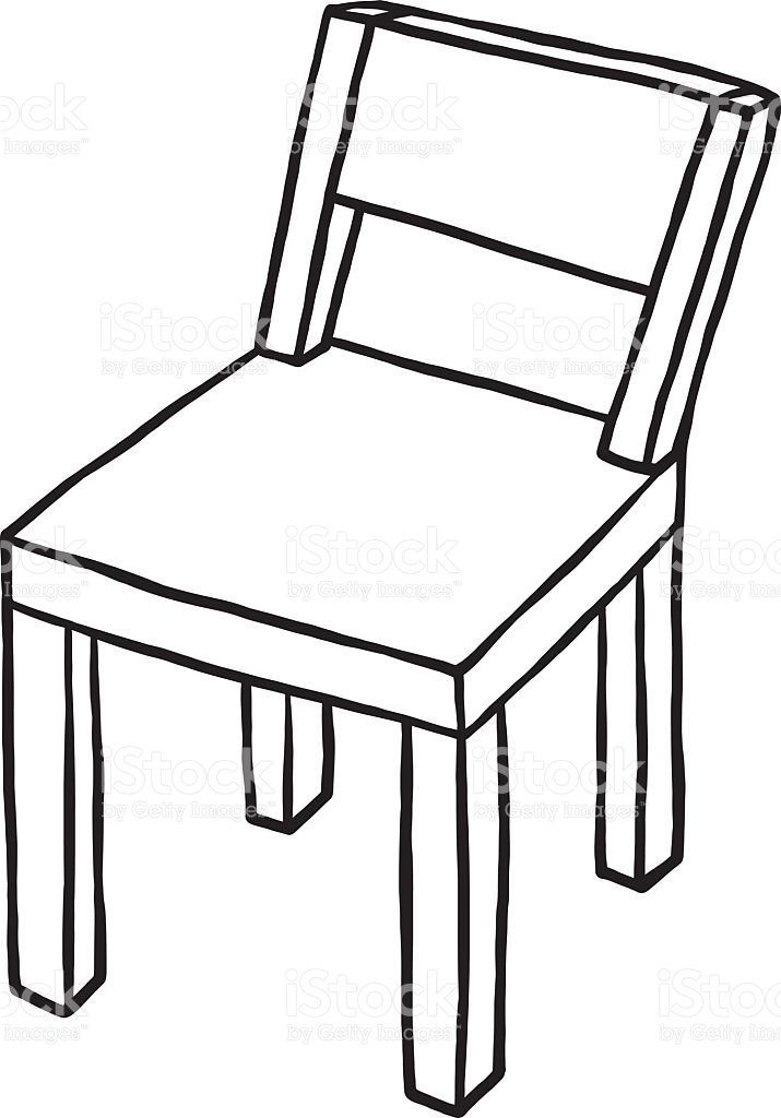 Black and white wood clipart png free library Chair Clipart Black And White Wood Seat Pencil In png free library