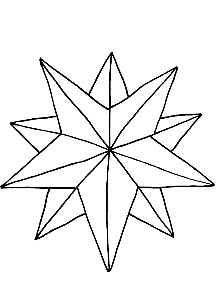 Black and white clipart of nativity star picture library download Pictures A Nice Christmas Star Coloring Pages | Things I love ... picture library download
