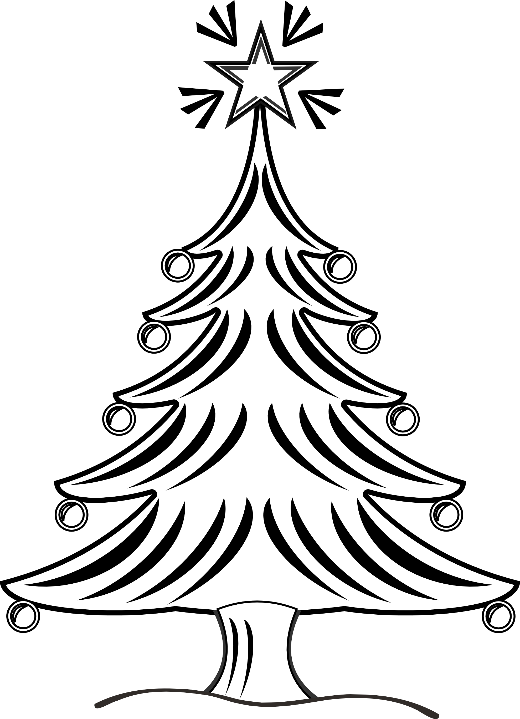 Black and white clipart christmas tree jpg transparent Christmas Tree Clipart Black And White | Clipart Panda - Free ... jpg transparent