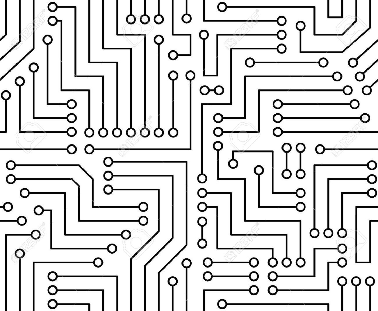 Black and white clipart circuit jpg transparent Black and white circuit board clipart 9 » Clipart Portal jpg transparent