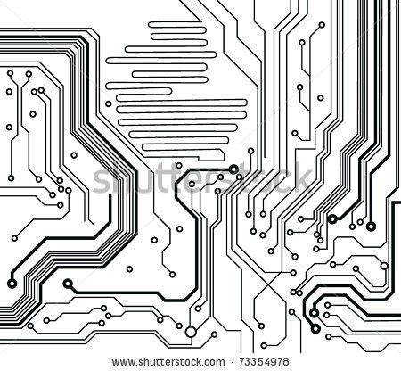 Black and white clipart circuit picture royalty free download circuit board pattern black-and-white. vector illustration by takito ... picture royalty free download