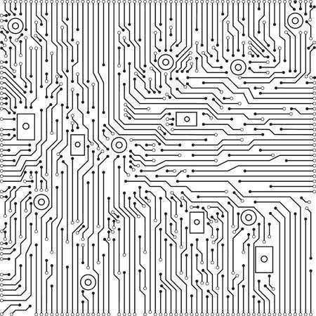 Black and white clipart circuit vector black and white library Black and white circuit board clipart » Clipart Portal vector black and white library