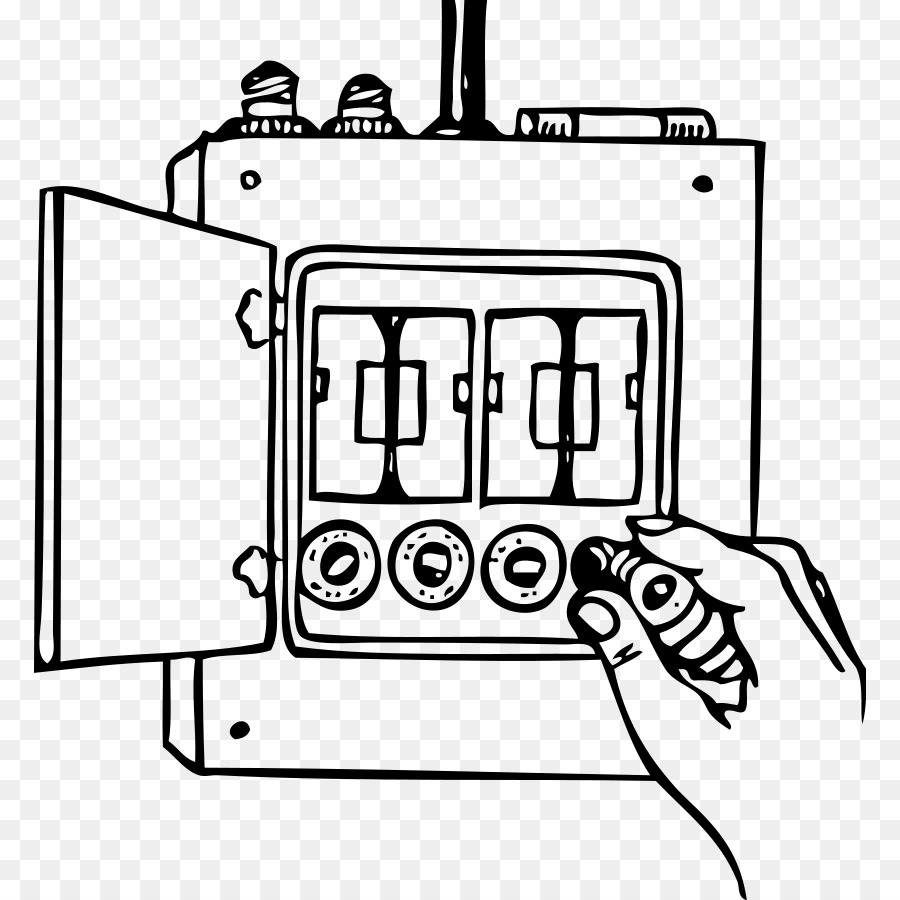 Black and white clipart circuit svg freeuse Electricity png download - 832*900 - Free Transparent Fuse png Download. svg freeuse
