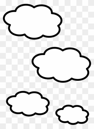 Free PNG White Cloud Clip Art Download - PinClipart png black and white
