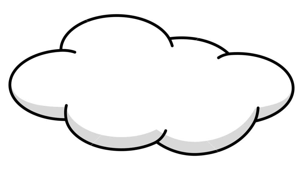 Clipart black and white cloud 3 » Clipart Station png black and white download